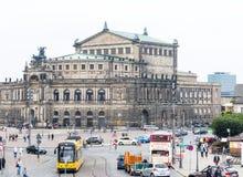 Semperoper in Dresden Royalty-vrije Stock Foto's