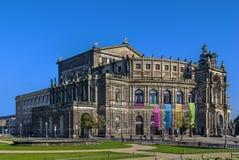 Semperoper in Dresden, Saxony, Germany Stock Photos