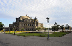 Semperoper, Dresden. Semper Opera House in Dresden in the early morning Stock Photos