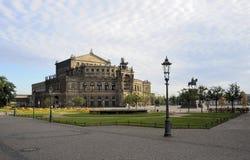 Semperoper, Dresden. Semper Opera House in Dresden in the early morning Stock Photos