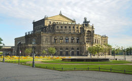 Semperoper, Dresden. Semper Opera House in Dresden in the early morning Stock Images