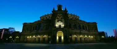 Semperoper, estado saxão Opera do teatro da ópera Foto de Stock Royalty Free