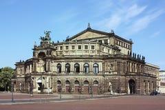 Semperoper i Dresden, Sachsen, Tyskland Arkivbild