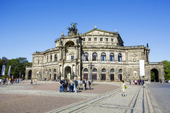 Semperoper, the Opera House in Dresden Stock Images