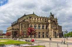 Semperoper, an opera house in Dresden Royalty Free Stock Photography