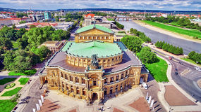 Semperoper is the opera house of the Sachsische Staatsoper Dresden Royalty Free Stock Photos