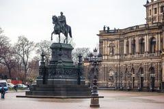 Semperoper, Opernhaus des Saechsische Staatsoper Dresden S stockfotografie
