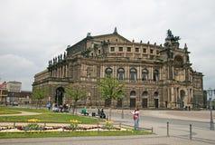 Semperoper of Staatsoper Dresden Royalty-vrije Stock Afbeelding