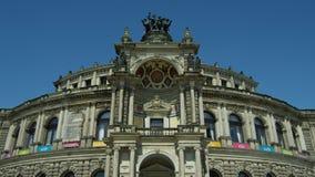 Semperoper, teatro da ópera do Saechsische Staatsoper Imagens de Stock