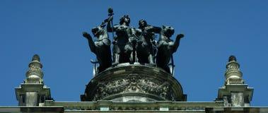 Semperoper, théatre de l'opéra du Saechsische Staatsoper photos stock