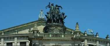 Semperoper, théatre de l'opéra du Saechsische Staatsoper image libre de droits