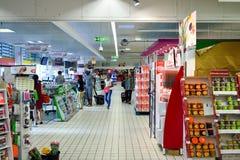 Semplicemente interno del supermercato del mercato fotografia stock