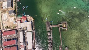Semporna-Ozean-Tourismus-Mitte stockfotografie