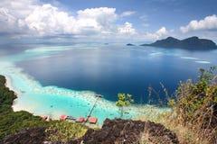 Semporna Sabah Malesia di vista del picco dell'isola di Bohey Dulang Immagine Stock Libera da Diritti