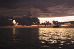 Semporna Tanjung is Strand royalty-vrije stock fotografie