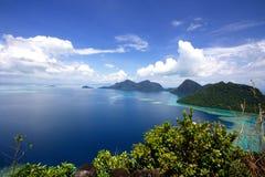 Semporna zingaresco Sabah del dulang di bohey del villaggio del mare Fotografie Stock Libere da Diritti