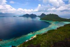 Semporna zingaresco Sabah del dulang di bohey del villaggio del mare Fotografie Stock