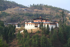 The Semtokha Dzong Royalty Free Stock Photography