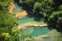 Semuc Champey, Lanquin, Guatemala, América Central Fotos de Stock