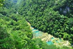 Semuc Champey, Lanquin, Guatemala, América Central Foto de Stock Royalty Free