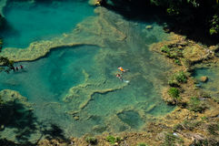 Semuc Champey natural swimming pools, Guatemala Stock Photography