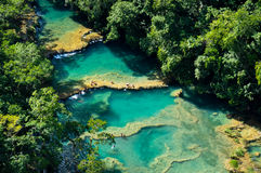 Semuc Champey natural swimming pools, Guatemala Royalty Free Stock Photography