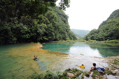 Semuc Champey, nella regione di Alta Verapaz di Guatemala, immagini stock libere da diritti