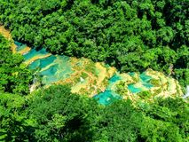 Semuc Champey pools, Guatemala. Stock Photo