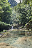 Semuc Champey small waterfals in Guatemala Stock Images