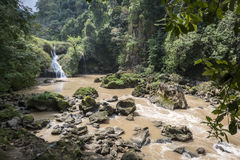 Semuc Champey waterfalls in summer, Guatemala Royalty Free Stock Images