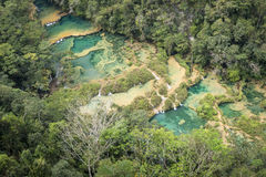 Semuc Champey waterfals in Guatemala Stock Photography