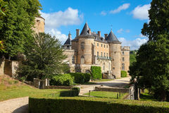 Semur-en-Auxois Bourgogne Fotografering för Bildbyråer