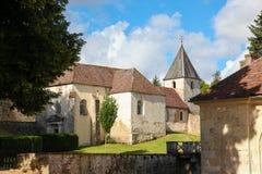 Semur-en-Auxois Bourgogne Royaltyfria Bilder