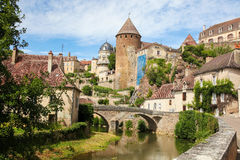 Semur-en-Auxois, Burgundy Royalty Free Stock Photography