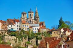 Semur-en-Auxois, a village in Burgundy, France Royalty Free Stock Images