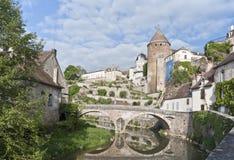 Semur-Engels-Auxois Royalty-vrije Stock Foto