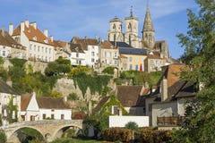 Semur-Engels-Auxois Bourgogne Frankrijk Royalty-vrije Stock Afbeeldingen
