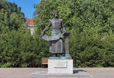 Semyon Remezov Monument in Tobolsk, Russia Stock Image