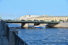 Semyonov bridge over the Fontanka river Stock Images
