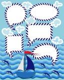 Sen, życzenia i wiadomości Set ilustracja wektor