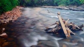 Sen afton på flodstranden fotografering för bildbyråer