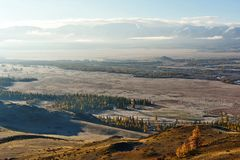 Sen höst i dalarna runt om den norr Chui kanten Royaltyfri Bild