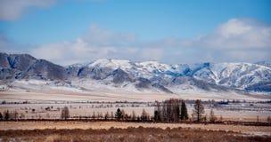 Sen höst i de Altai bergen Fotografering för Bildbyråer