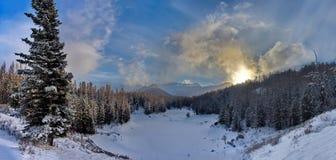 Sen höst i de Altai bergen Royaltyfria Bilder