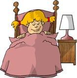 sen małej dziewczynki ilustracja wektor