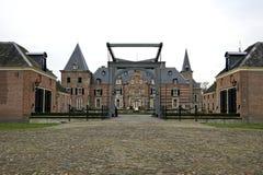 sen medeltida twickel för slott Royaltyfri Bild