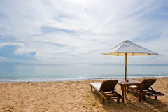 sen na plaży Zdjęcia Stock