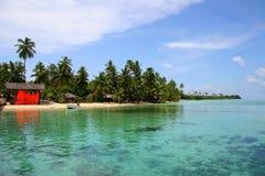 sen na plaży tropikalnym raju Zdjęcia Royalty Free