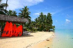 sen na plaży tropikalnym raju Zdjęcie Royalty Free