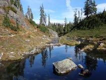 Sen nedgångplats för alpin ström Royaltyfri Foto